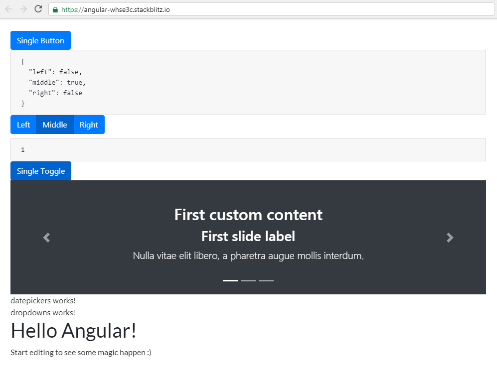 Added a custom content ngx-bootstrap carousel