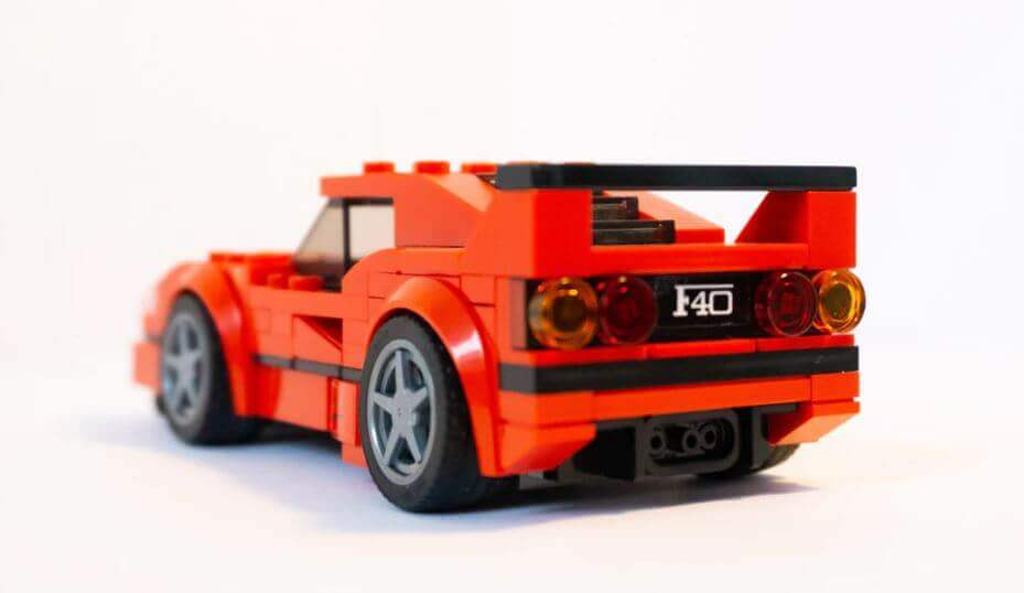 A sports car built with legos