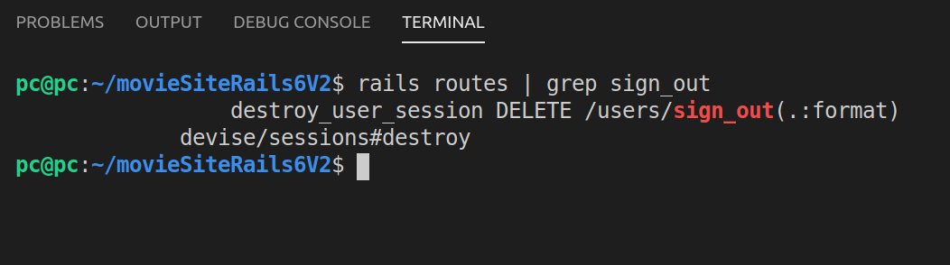 Filtering rails routes with grep sign_out