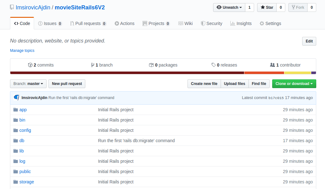 List of commits are now showing on GitHub