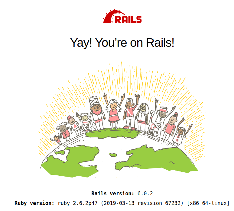 Rails is stil running on our local machine