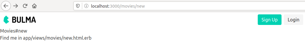 The movies new url is served in the browser